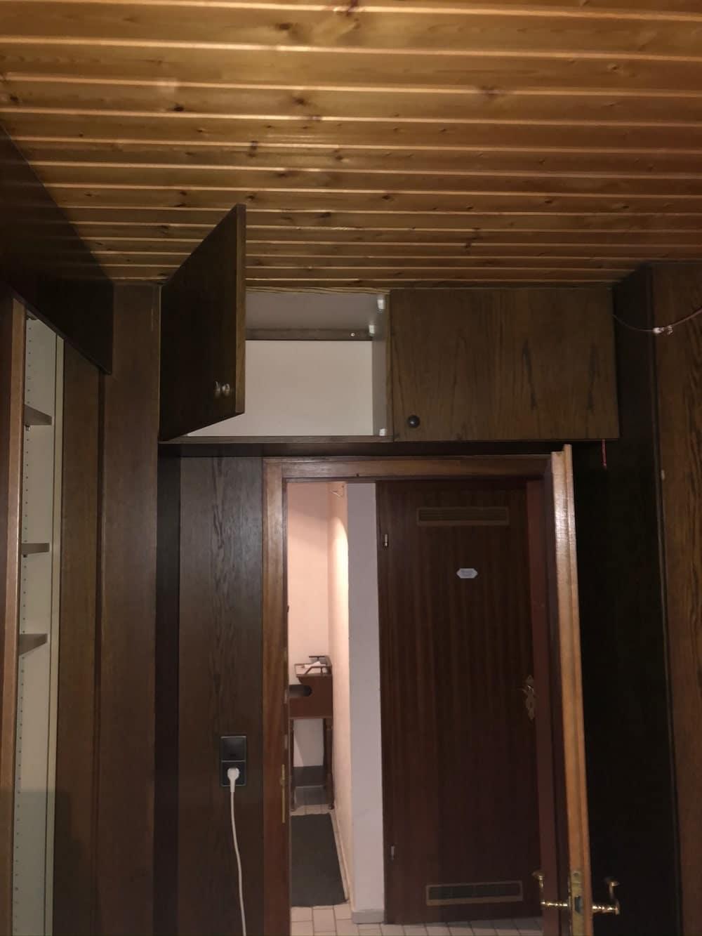 Bild einer Holzdecke